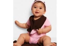 Bavoir réversible 2 couleurs pour bébé BE170