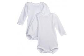 Body pour bébé manches longues 190 gr/m² - 4 tailles (vendu à l'unité)