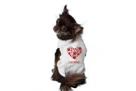 Body 100% polyester pour chien - 4 tailles : XS - S - M - L (vendu à l'unité)
