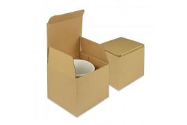 Boite cadeau en carton brun pour mug 11 x 10 x 10 cm