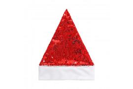 Bonnet de Noël enfant à sequins réversibles 24 x 30 cm (vendu à l'unité)