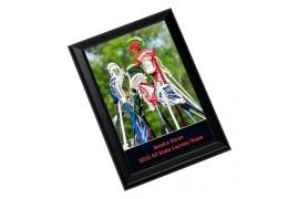 Cadre photo blanc brillant Unisub 17,8 x 22,9 cm bordure noire