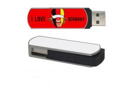 Clé USB 16 Go avec plaque aluminium pour sublimation (vendu à l'unité)