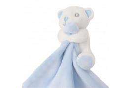 Doudou pour enfant ourson bleu 100% polyester Mumbles MM700 (vendu à l'unité)