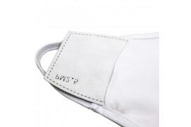 Masque respiratoire élastique blanc en tissu blanc avec 2 filtres 100% polyester 18,5 x 13 cm (vendu à l'unité)