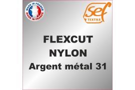 PU FlexCut Nylon Argent Métal 31