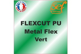 PU Métalflex Vert Métal - Vinyle thermocollant 60 microns