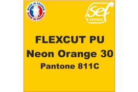 Flex thermocollant PU FlexCut Orange Fluo 30