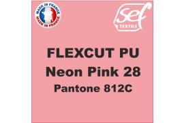 Flex thermocollant PU FlexCut Rose Fluo 28