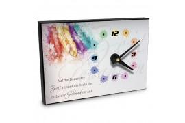 Horloge murale en MDF rectangulaire 20 x 14 cm épaisseur 16 mm (vendu à l'unité)