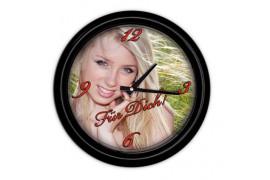 Horloge murale ronde en plastique Ø 25 cm (vendu à l'unité)