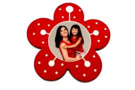 Magnet en MDF forme fleur 6 x 6 cm (vendu à l'unité)