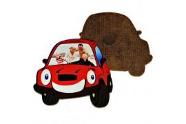 Magnet en MDF forme voiture 7 x 7 cm (vendu à l'unité)