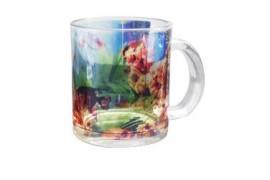 Mug en verre transparent H 9,5 cm Ø 8 cm