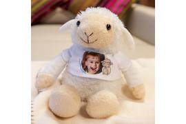 Peluche mouton H 20 cm (vendu à l'unité)