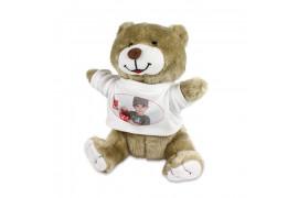Peluche ours Fred H 22 cm (vendu à l'unité)
