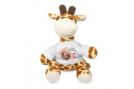 Peluche girafe H 22 cm (vendu à l'unité)