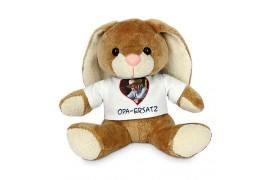 Peluche lapin Bunny H 19 cm (vendu à l'unité)