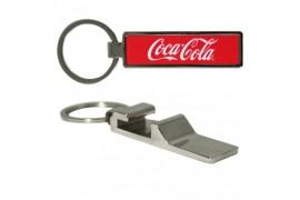Porte-clé décapsuleur rectangulaire en métal avec plaque sublimable (vendu à l'unité)