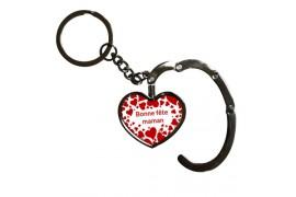 Porte-clé accroche sac pliable forme coeur