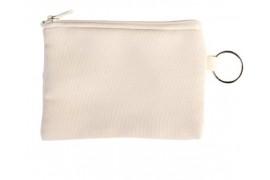 Porte-monnaie en lin personnalisable en sublimation avec porte-clé (vendu à l'unité)