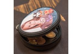 Porte-monnaie rond en toile Ø 9 cm (vendu à l'unité)