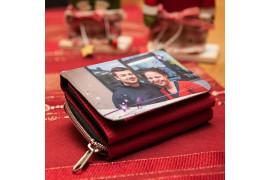 Portefeuille en textile 12 x 8,5 cm - 3 coloris (vendu à l'unité)