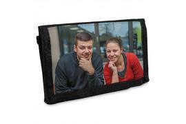 Portefeuille noir en textile 13 x 9 cm (vendu à l'unité)