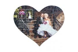 Puzzle coeur 28,5 x 40 cm épaisseur 2 mm - 115 pièces