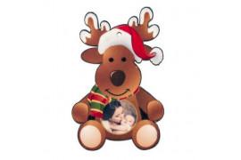 Ornement forme renne Noël en feutrine 7,5 x 11,5 cm (vendu à l'unité)