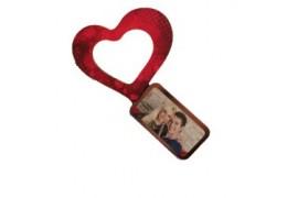 Bague de serviette en fibre sublimable forme coeur (vendu à l'unité)