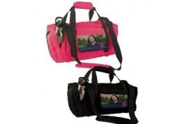 Sac de sport HAWAII  500 x 230 x 250 mm - Rabat détachable - 2 coloris rose - noir (vendu à l'unité)