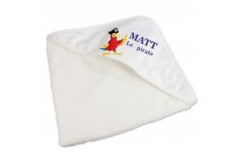 Sortie de bain en éponge pour enfants avec capuche sublimable (vendu à l'unité)
