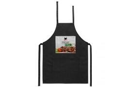Tablier de cuisine noir 60 x 85 cm avec zone personnalisable en sublimation (vendu à l'unité)