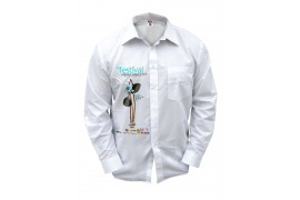 Chemise homme blanche manches longues 230 gr/m² - 4 tailles