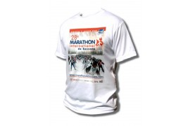 Tee-shirt adulte blanc à manches courtes 190 gr/m² (vendu à l'unité)