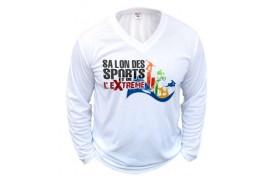 Tee-shirt blanc adulte 190 gr/m² manches longues S à XXL