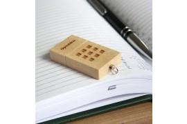 Clé USB rectangulaire en bois d'étable - Mémoire 8 Go