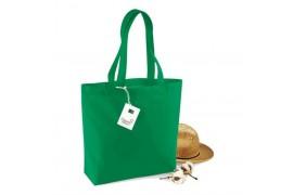 Sac shopping 100% coton biologique W180 35 x 32 x 12 cm (venu à l'unité) - 6 coloris