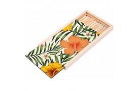 Boite à crayon en bois 19 x 10,5 x 1,7 cm avec plaque HDF personnalisable (vendu à l'unité)