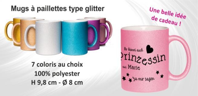 Mugs glitters