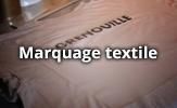 Marquage sur textile